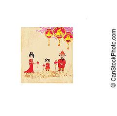 mid-autumn, 祝祭, ∥ために∥, 中国の新年, 抽象的, カード