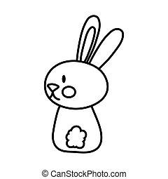 mid autumn cute rabbit back line style icon