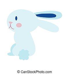 mid autumn cute rabbit flat style icon