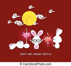 Mid autumn festival rabbit