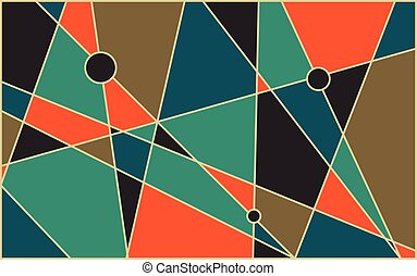 Mid century abstract background