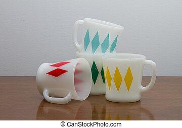 Mid Century Coffee Mugs