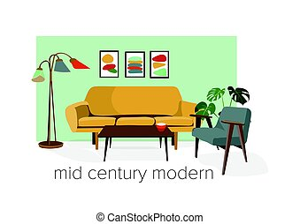 mid century modern illustration.