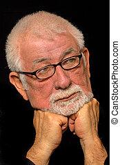 Mid Life Contemplation - Man contemplates his future