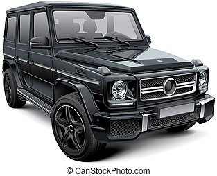 Mid-size luxury SUV - High quality vector illustration of...