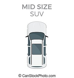 Mid size SUV Means of Transportation Isolated