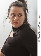 Mid-thirties woman - portrait of a woman in her mid-thirties