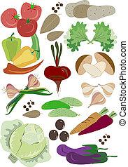 middag, grönsaken