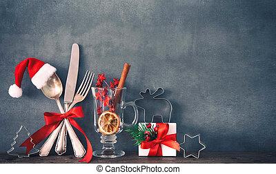 middag, jul, bakgrund