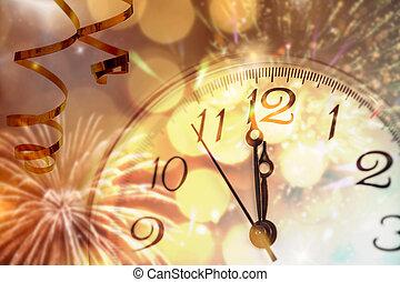middaguur, -, eva, jaar, nieuw
