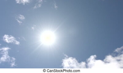 Midday Sun Moves Across the Sky HD