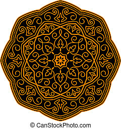 middelalderlige, ornamentere