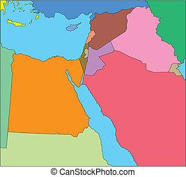 middelbare , israël, oosten, landen