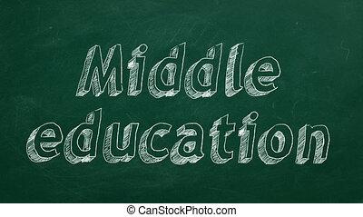 middelbare , opleiding