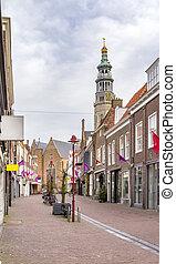 Middelburg in Zeeland - city view of Middelburg located in...