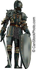 middeleeuws, armor-vector