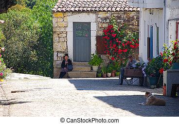 middeleeuws, dorp, idanha-a-velha, portugal.