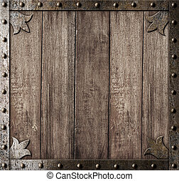 middeleeuws, houten, achtergrond