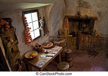 middeleeuws, interieur