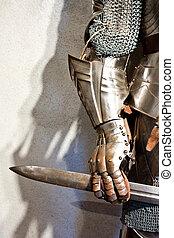 middeleeuws, leger