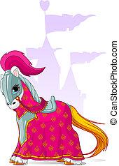 middeleeuws, paarde