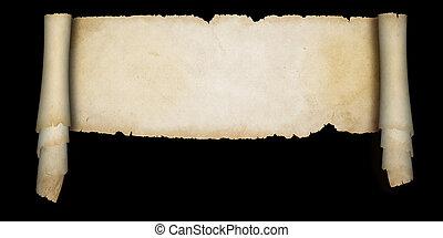 middeleeuws, perkament, scroll.