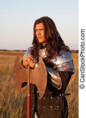 middeleeuws, ridder