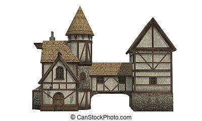 middeleeuws, taverne