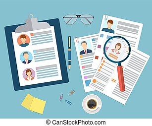 middelen, concept, management, menselijk