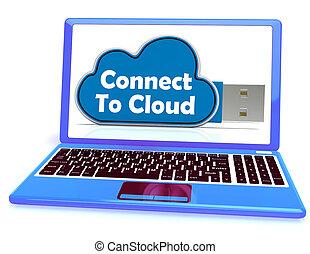middelen, geheugen, opslag, verbinden, bestand, online, wolk