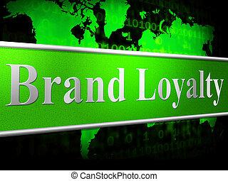 middelen, merk, steun, trouw, bedrijf, identiteit