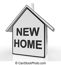 middelen, woning, kopen, nieuw huis, eigendom, of, aankoop