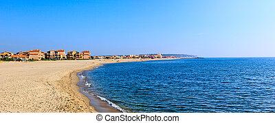middellandse zee, coast., aardig, france.