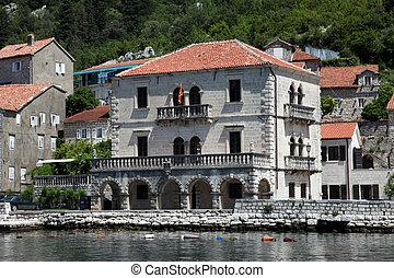 middellandse zee, woning, in, perast, montenegro