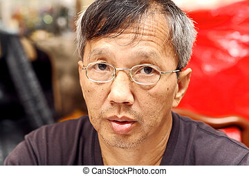 middle age asian man