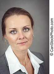 Middle age business woman - Portrait of middle age business...