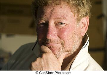 middle age handsome man smiling portrait