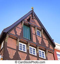 Middle age house facade