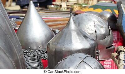 Middle Age War Helmets - Various models of medieval steel...