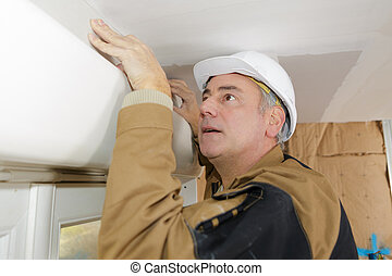 middle age workman