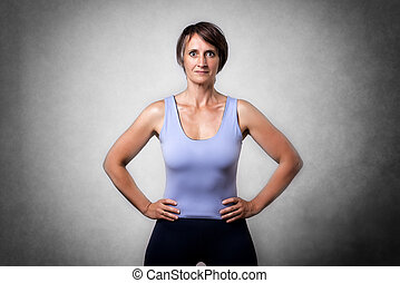 Middle aged confident woman