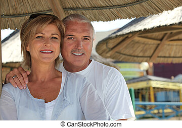 Middle-aged couple on holiday