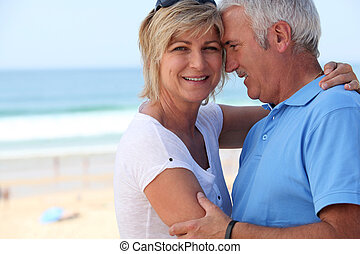 Middle-aged couple on holidays