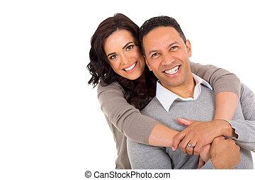 middle aged couple portrait - portrait of middle aged couple...