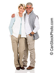 middle aged couple - portrait of happy middle aged couple...