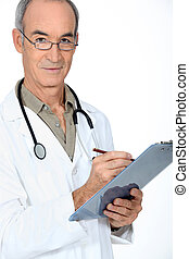 Middle-aged male doctor