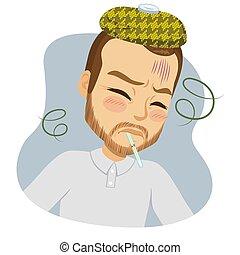 Middle Aged Man Fever Virus