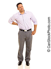 middle aged man having back pain