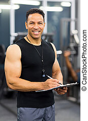 middle aged personal trainer - handsome middle aged personal...