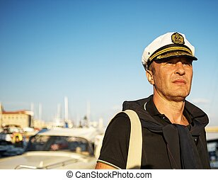 Middle-aged sailor